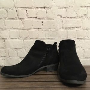 Arizona - Faux Suede Black Booties - 9.5W